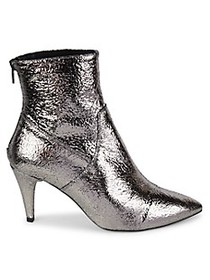 Free People Willa Metallic Leather Ankle Boots
