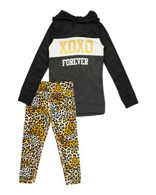 XOXO Big Girls 2pc Hooded Legging Set