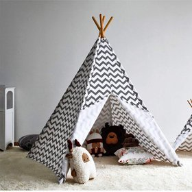 Modern Home Children's Oxford Tepee Set with Trave