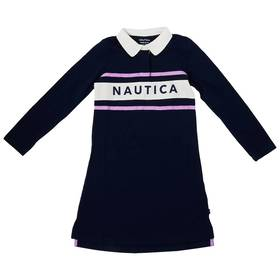 Girls (7-16) Nautica Long Sleeve Rugby Dress with