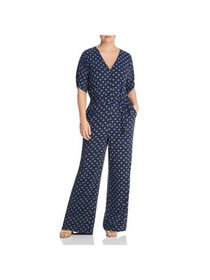 MICHAEL Michael Kors Womens Plus Printed V-Neck Ju