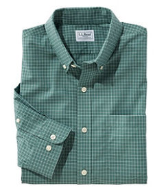 LL Bean Men's Wrinkle-Free Check Shirt, Traditiona