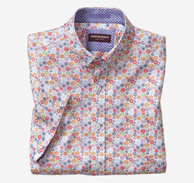 Johnston Murphy Flower Print Short-Sleeve Shirt