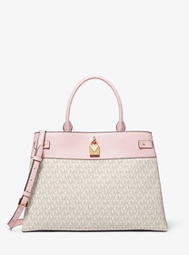 Michael Kors Gramercy Large Logo and Leather Satch