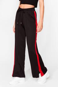 Nasty Gal Red Just Our Stripe Relaxed Track Pants