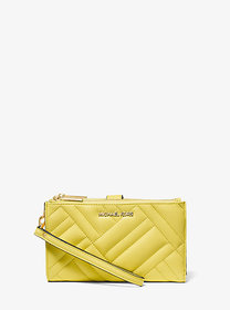 Michael Kors Peyton Large Quilted Double-Zip Wrist