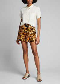 Dries Van Noten Leopard-Print Drawstring Shorts