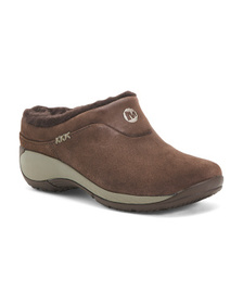 MERRELL Suede Cozy Lined Slip On Flats