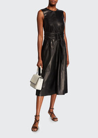 Brunello Cucinelli Leather-Front Sleeveless Cockta