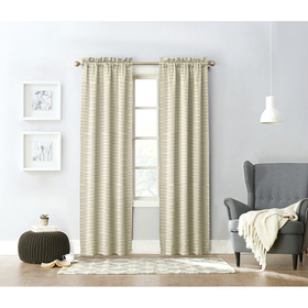 Lorraine Home Fashions Downtown Striped Rod Pocket