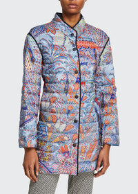 Etro Dreamtime Paisley Quilted Coat