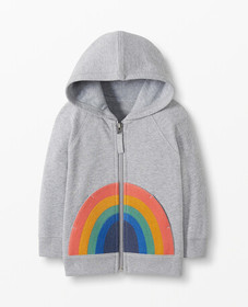 Hanna Andersson Rainbow Hoodie In French Terry