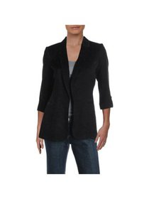 CALVIN KLEIN Womens Black Wear To Work Jacket Peti