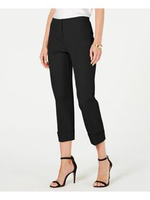 ALFANI Womens Black Formal Pants Petites Size: 10