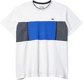 Lacoste Short Sleeve Cotton Mesh Inset Tee