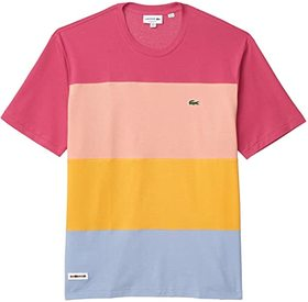 Lacoste Short Sleeve Color-Block Ice Cotton Tee wi