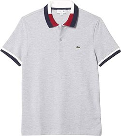 """Lacoste Short Sleeve Slim Fit Polo with A """"Semi Fa"""