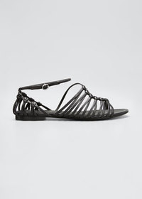 3.1 Phillip Lim Lily Leather Asymmetrical Cage Fla