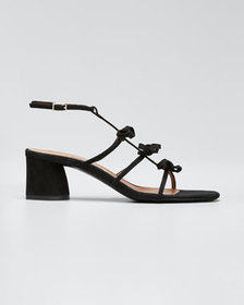 Tabitha Simmons Covie Suede Knotted Sandals