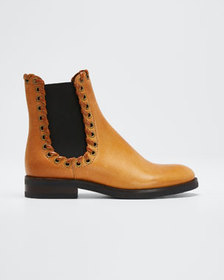 See by Chloe Sierra Calf Cuoio Whipstitched Bootie