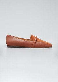 Veronica Beard Grier Suede & Leather Slip-On Loafe