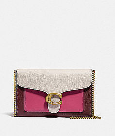 Coach tabby chain clutch in colorblock