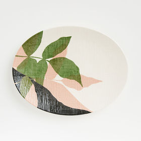 Crate Barrel Lush Oval Platter