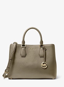 Michael Kors Camille Large Pebbled Leather Satchel