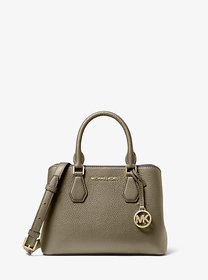 Michael Kors Camille Small Pebbled Leather Satchel