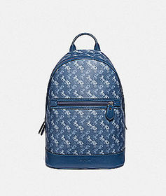 Coach barrow backpack with horse and carriage prin
