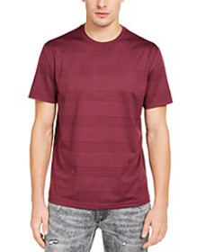 INC Men's Perforated Striped T-Shirt, Created for