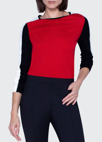 Akris punto Colorblock Merino Wool Sweater