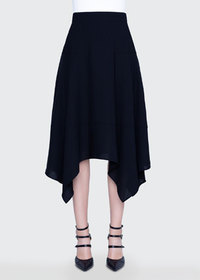 Akris Wool-Blend Handkerchief Skirt