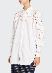 Victoria Beckham Broderie Anglaise Oversized Shirt