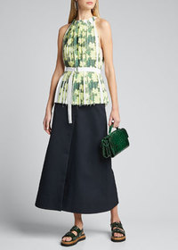 3.1 Phillip Lim Knife-Pleated Belted Tank