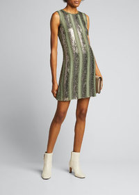 Elie Tahari Esmarella Sequin Stripe Mini Dress