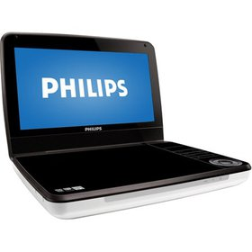 "Philips PD9000/37 9"" Portable DVD Player, Black/Wh"