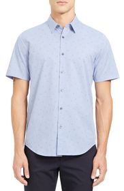 Theory Irving Slim Fit Short Sleeve Button-Up Shir