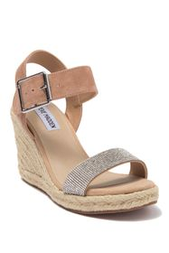 Steve Madden Maya Embellished Leather Wedge Sandal