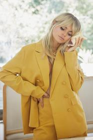 Nasty Gal Mustard Relaxed Blazer with Decorative P