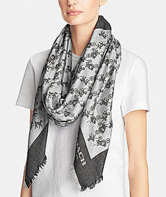 Coach horse and carriage oversized square scarf
