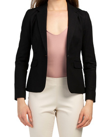VINCE CAMUTO Petite One Button Blazer