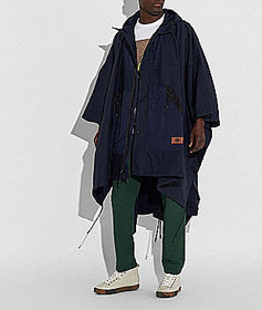 Coach packable poncho