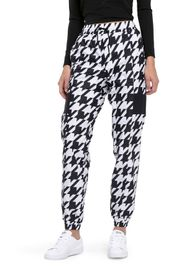 PUMA Houndstooth Woven Drawstring Track Pants