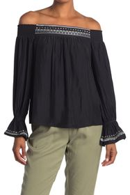 Ramy Brook Koda Off-the-Shoulder Embroidered Top