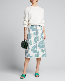 3.1 Phillip Lim Fil Coupe Abstract Daisy Seamed Sk
