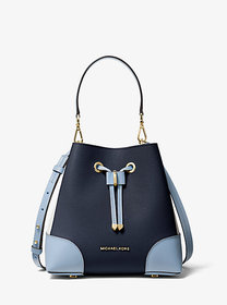 Michael Kors Mercer Gallery Small Two-Tone Pebbled