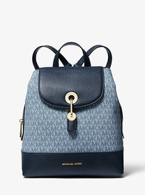 Michael Kors Raven Medium Logo and Pebbled Leather