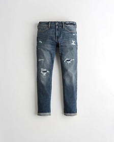 Hollister Skinny Jeans, RIPPED AND REPAIRED BRIGHT