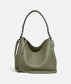 Coach shay shoulder bag with whipstitch detail